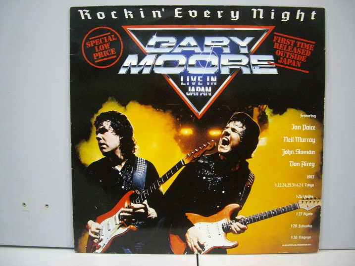 GARY MOORE	Rockin' Every Night Live in Japan	1986	Germany	nm-nm	Цена 1200  р.